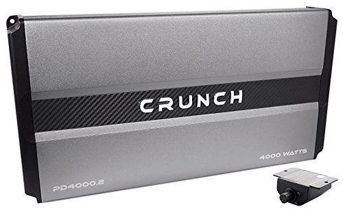 Crunch Power Drive PD4000.2 Bridgeable Amplifier (Pro Power, 4,000 Watts Max, Class Ab 2-Channel) (4,000w Power Amplifier)