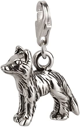 Charm Anhänger Hund Border Collie aus 925 Sterling Silber