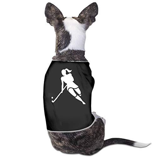 LNUO-2 Pet T-Shirt, Woman Hockey Player Dog Cat Pajamas Shirt