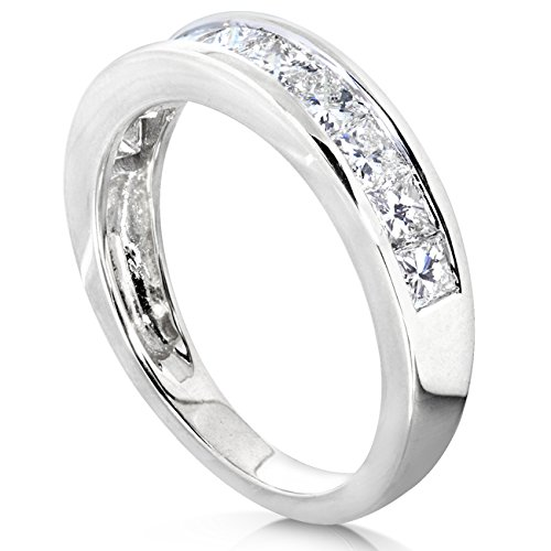 Diamond Band 1 carat (ctw) in 14kt White Gold, Size 8, White Gold by Kobelli (Image #3)
