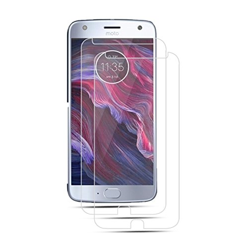 Moto X4 Tempered Glass Screen Protector, [Full Coverage] [9H Hardness] [Anti-Scratch] HD Clear Film for Motorola X4 (Moto X4)