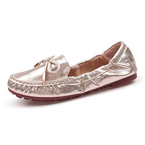 scarpe FLYRCX borsetta pieghevoli da scarpe maternità EU tascabili scarpe signore moda comfort oro EU antiscivolo nella casual vostra scarpe 34 Scarpe mettere di 34 balletto casual piatte PB7xwUPqrp