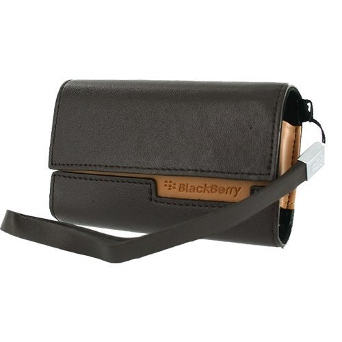 Xentris Horizontal Leather Pouch with Wrist Strap for Curve 8300