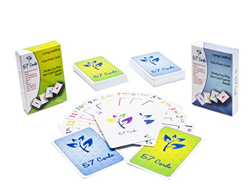 Fully Plastic 57 Cards - 2 Decks: Perfect for Playing the Rook Game