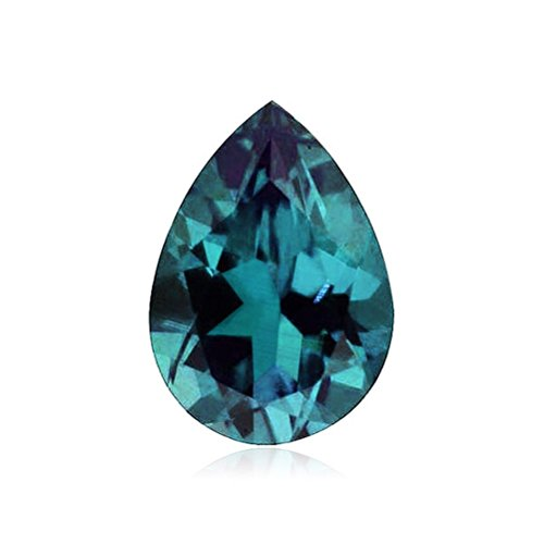 0.86 Cts of 8x5 mm AAA Pear Russian Lab Created Alexandrite ( 1 pc ) Loose Gemstone