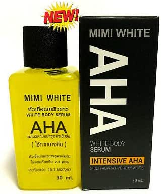 MINI WHITE Extra Speed Whitening Skin Body Serum AHA Vitamin Brightening Beauty Care Cream For Body, Face, Neck, Bikini, Sensitive Areas & All Skin Types - Dark Spot Corrector 30 ML Within 7 Days