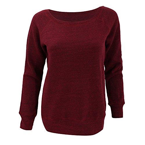 Bella Ladies Suéter Holgado Para Red Fleece Marble Ajuste Mujer Con rrSZdq
