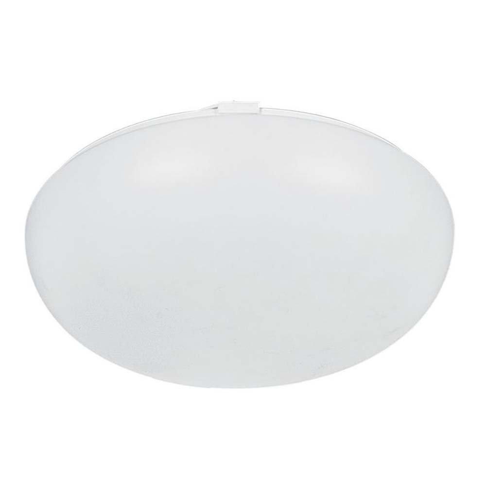 White Finish Sunset Lighting F8081-30 Flush Mount with White Acrylic Lens Shades