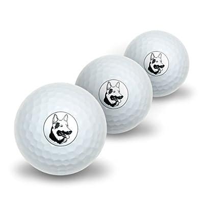 German Shepherd - Dog Novelty Golf Balls 3 Pack