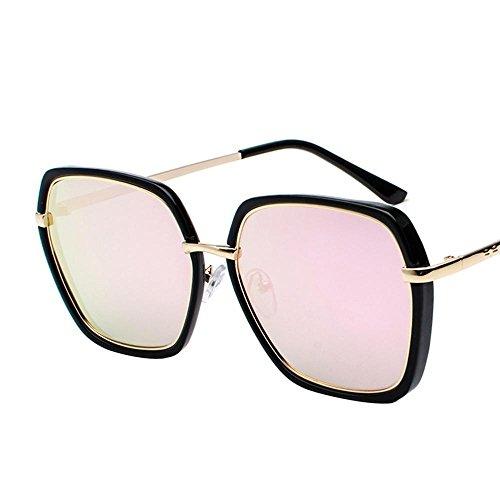 Aoligei Hommes et femmes marée personnes océan verres métalliques  brillantes couleurs lunettes de soleil lunettes de 9e50c38642a3