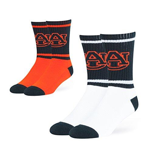(NCAA Auburn Tigers OTS Dasher Sport Socks (2 Pack), Large, Team Color)