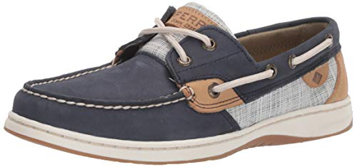 SPERRY Women's, Bluefish 2 Eye Boat Shoes Navy Multi 6.5 M