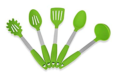 cooking Utensils Set By Kitchenbest – Made Of Stainless Steel & FDA Food Grade Silicone – BPA Free - Extremely Heat Resistant – Dishwasher Safe – Stylish Cooking Tools – Available In Different Colors by kitchenbest
