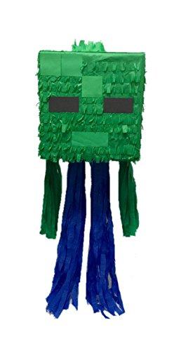 APINATA4U Green Mining Boy Cube Head Pinata Video Game PartyFavor -