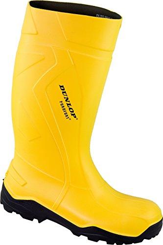 Dunlop - Calzado de protección de Poliéster para hombre Negro negro amarillo