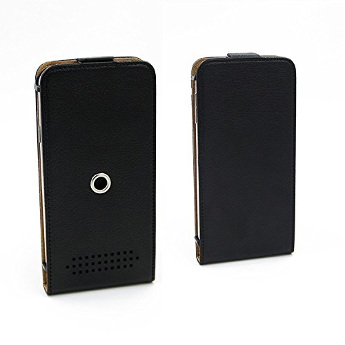 TOP SET: Étui pour Apple iPhone 8, noir + Écouteurs. protection 360°, COUVERTURE similicuir, housse - K-S-Trade (TM)