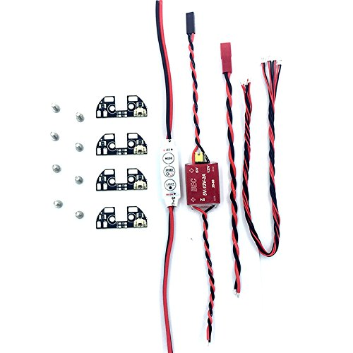 Drone LED lights, ZMR Model APM 2.6 2.5 2.8 LED Light TBS DISCOVERY Navigation Light LED with Driver Module Quadcopter F330 F450 F550 S500 FPV Drone Kit Aircraft Frame