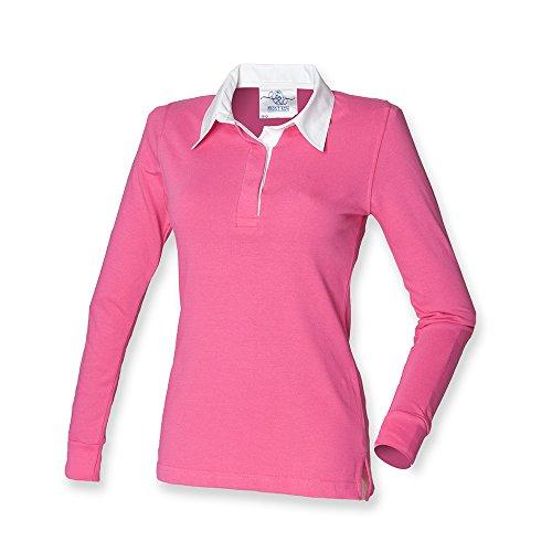 Brillante Para Polo Front Mujer Rosa Row xTPnqwp