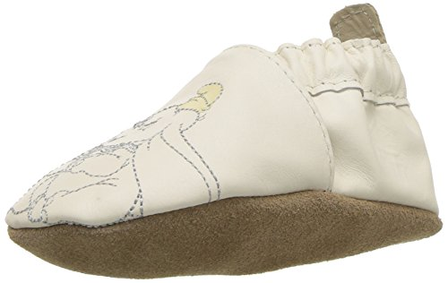 (Robeez Baby Old School Mickey Crib Shoe, Little Shining Star - White, 18-24 Months M US Infant)