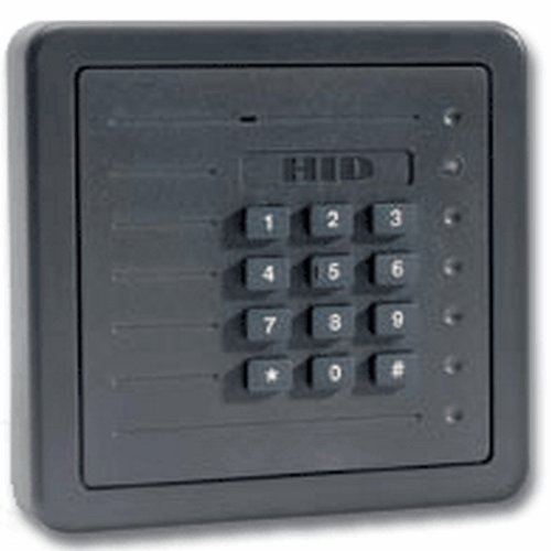 HID 5355AGK00 ProxPro Proximity Card Reader w/Keypad & Terminal Strip - Wiegand Gray by HID Corporation
