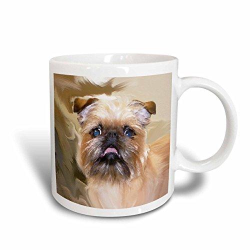 3dRose Brussels Griffon Portrait Mug, 15-Ounce