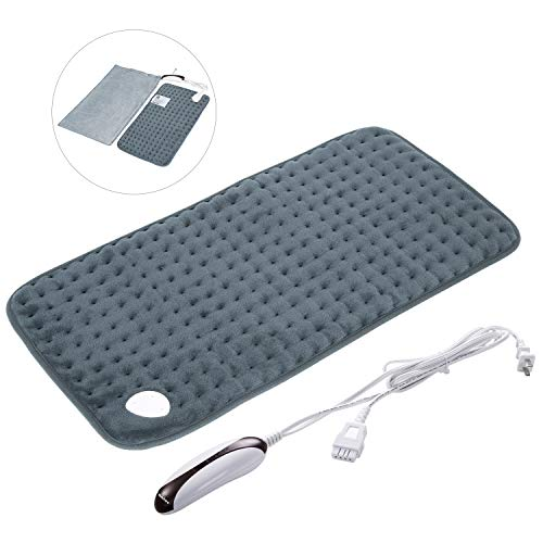 Electric Heating Pad with Auto Shut-Off, Fast-Heating, 5 Temperature Settings, Warming Pad for Back Pain Machine-Washable, Free Storage Bag - 12