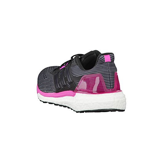 adidas Supernova W, Zapatillas De Gimnasia para Mujer, Gris Negro (Utility Black /core Black/shock Pink )