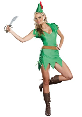 Dreamgirl womens Sassy Peter Pan Costume X-Small