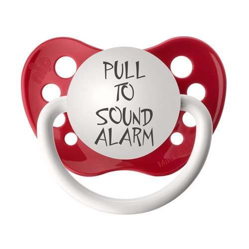 Personalized Pacifiers Pull Sound Alarm product image