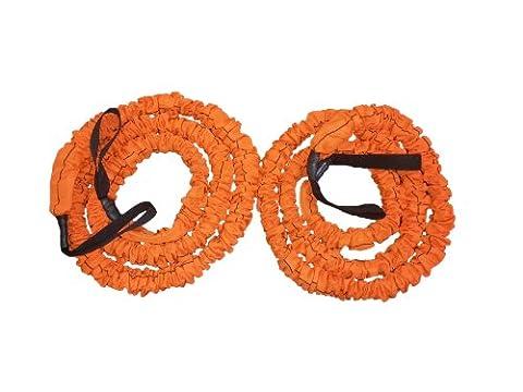 Stroops Son of the Beast Battle Ropes, Orange (105 Lbs. Resistance) 1- Pair (The Beast Slastix Battle Rope)