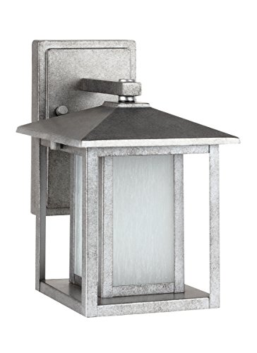 Sea Gull Lighting 89029-57 Hunnington Outdoor Wall Sconce, One-Light, Weathered Pewter Finish - Weathered Pewter Finish