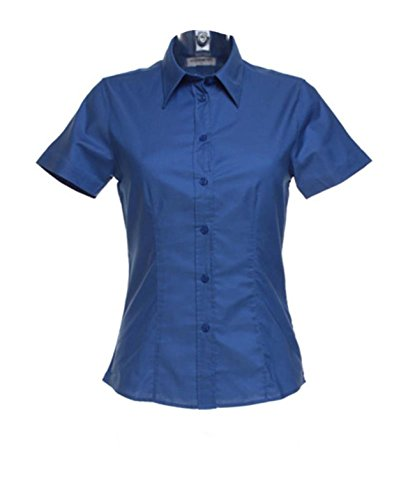 New Semi juego de accesorios para sábana bajera para cama de Kustom mujer Oxford de manga corta blusa trabajo Italian Blue
