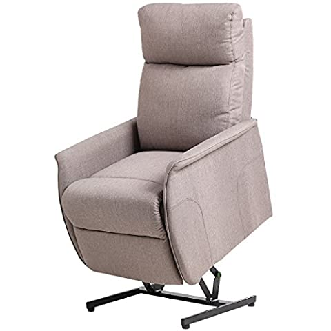 Giantex Electric Power Lift Chair Recliner Sofa Chair, With Fabric Padded Seat ,W/Remote (Light - Free Lift Chairs
