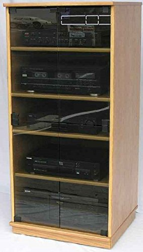 Oak Audio Cabinet with Gray Tint Glass D - Oak Audio Shopping Results