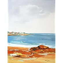 Oil painting 'Peaceful Beach Scenery on Canvas' printing on high quality polyster Canvas , 12x16 inch / 30x40 cm ,the best Home Theater gallery art and Home decor and Gifts is this Reproductions Art Decorative Prints on Canvas