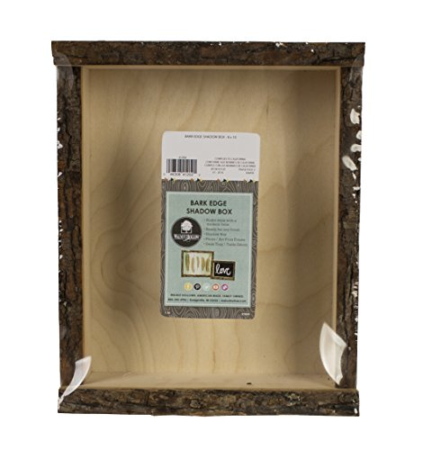 Walnut Hollow 41202 Natural Bark Edge Shadow Box for Arts, Crafts & Home Decor, Large ()