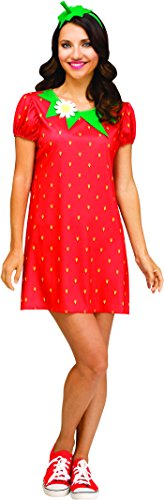 Fun World Women's Strawberry Flirty Fruit, red, S/M Size 2-8