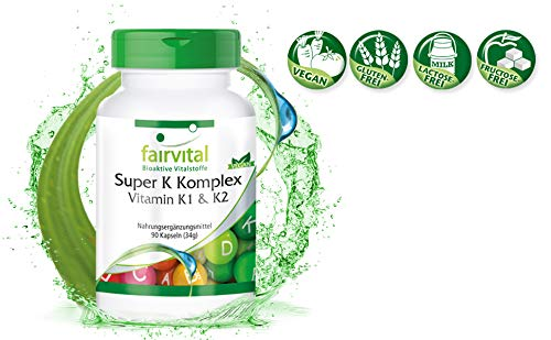 Vitamina K complex - VEGANO - Altamente dosificado - 90 ...