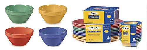 G.E.T. Enterprises SP-BC-170-MIX Mix Pack of 4 Mardi Gras Colors 8 oz. Bowl, Melamine (Pack of 12)