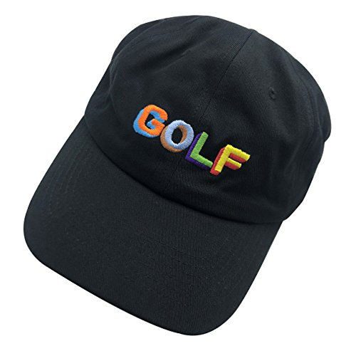 6c8a63d56db27 wuxianyong Golf Dad Hat Baseball Cap 3D Embroidered Adjustable Snapback  Unisex Black