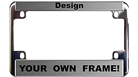 Amazon.com: MOTORCYCLE Custom Personalized Chrome Metal License ...