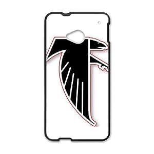 Atlanta Falcons Team Logo HTC One M7 Cell Phone Case Black Decoration pjz003-3818169