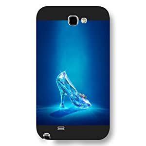 Customized Black Frosted Disney Princess Cinderella For Case HTC One M7 Cover