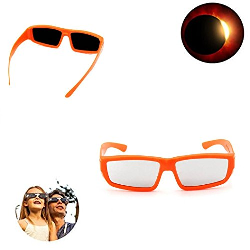 Price comparison product image Eclipse Glasses-2017 5PC Galaxy Edition Safe Solar Shades and Viewing Spectacles - Viewer and Filter- CE and Iso Certified (Orange)