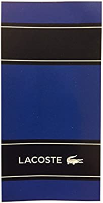 Toalla de playa Lacoste Blocks Blue (90 x 180 cm)