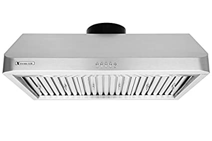 30 width Baffle filters XtremeAir Ultra Series UL10-U30 Under cabinet hood 3-Speed Mechanical Buttons,1.0 mm Non-magnetic S.S