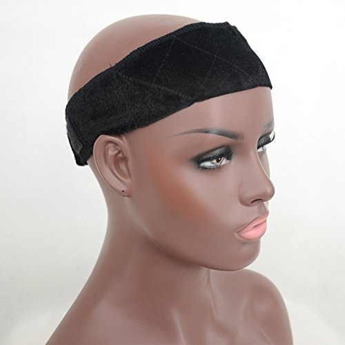 Luwigs Headband Flexible Velvet Wig Grip Scarf Head Hair Band Adjustable Fastener (Vogue Queen)