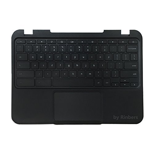 Rinbers Lenovo Chromebook N22 Laptop Black Upper Case Palmrest Keyboard Touchpad Assembly Replacement Part - Touchpad Part
