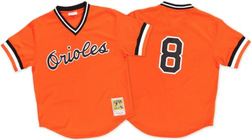 Cal Ripken Orange Baltimore Orioles Authentic Mesh Batting Practice Jersey X-Large (48) (Practice Batting Jersey Mlb)