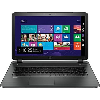 HP Pavilion 17.3-inch laptop (AMD Quad-Core A10-4655M, Radeon HD 7620G graphics, 6GB Memory, 500GB HDD, HD+ 1600 x 900 Non-Touch Display, Windows 8.1) - Silver